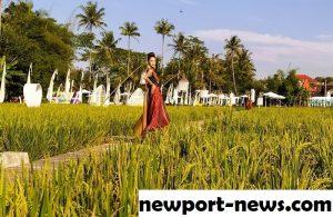 Fashion Show Unik Pakai Lokasi Tengah Sawah