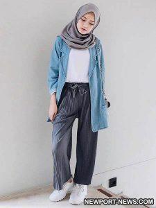 25 OOTD Mode Hijab Kekinian supaya Kalian Tampak Trendi